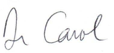 Dr Carol Signature